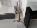 suport umbrela metal si lemn