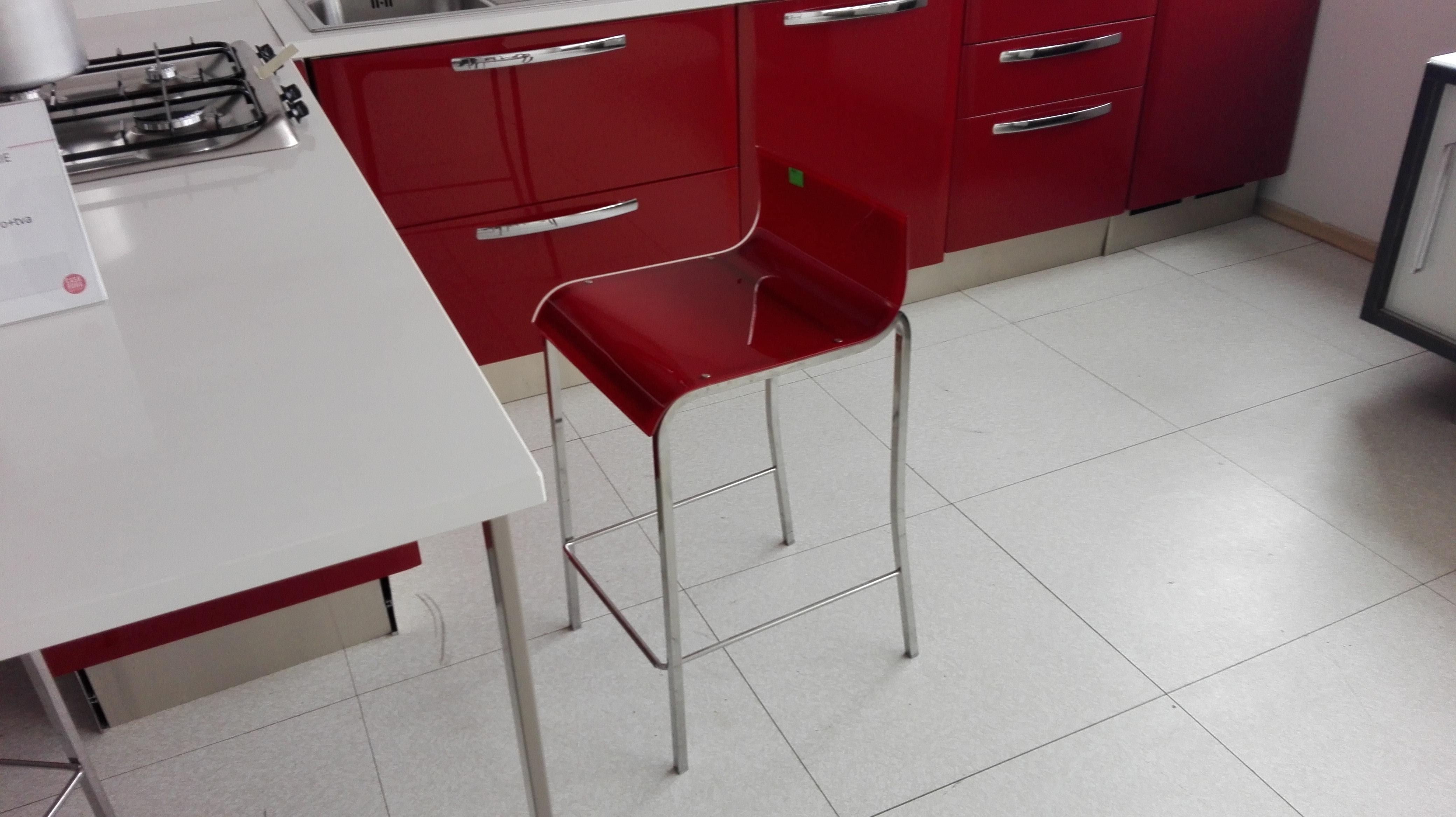 scaun bar Lube policarbonat lucios crom