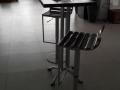 scaun bar Scarlet policarbonat lucios crom