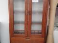 vitrina Leila 110x45xh190 2 usi 2 sertare lemn nuc